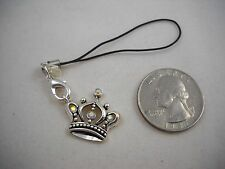 RARE Premier Designs Silver Crown Cell Phone Charm NWT Sweet!