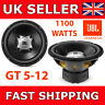 "JBL 12"" Inch SUB 1100W Car Audio Subwoofer Driver Bass GT5-12 Sub Woofer Single"