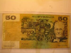 1976 Knight/Wheeler centre thread $50 banknote, YBG series.