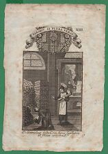 ST. STANISLAU Antiq 18th Cent HOLY CARD ENGRAVING FROM BOOK
