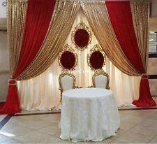 CHIFFON SHEER AND SEQUIN DRAPES PANELS BACKDROP CURTAIN WEDDING PARTY