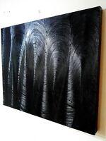 Peinture tableau contemporain abstrait moderne format 60/50 cm bords 3D