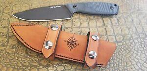 Ontario Cerberus Sheath scout leather custom made handmade knife blade bushcraft