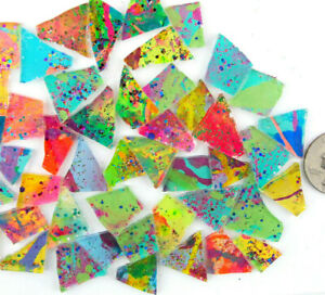 50 pieces of CLASSIC GLITZ Premium Metallic Glitter Glass Mosaic Tiles