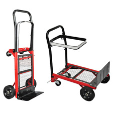Platform Trolley Hand 4 Wheel Cart Warehouse Industrial Foldable Heavy Duty