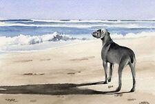 WEIMARANER Painting Dog 8 x 10 ART Print Signed by Artist DJR
