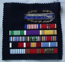 """Bullion 3""""Combat Infantry Badge In Mint Condition WW II With 14 Bar Ribbon Rack!"""