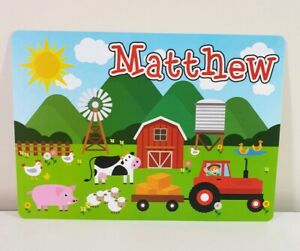 MATTHEW - Boys Name Personalized Placemat Childs Craft Mat (MATTHEW print only)