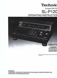 Technics Bedienungsanleitung user manual für SL-P 1200  Copy