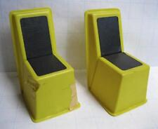 vtg 1968 Barbie family house plastic furniture lot 2 chairs-yellow & black dmged