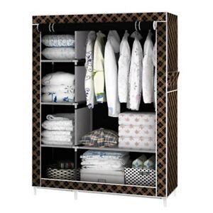 Armario De Tela Organizador de Ropa Plegable lona ropero estante guardar closet