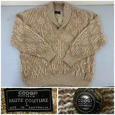 Coogie Haute Couture Mens Large Pullover Sweater Alpaca/Cotton MADE IN AUSTRALIA