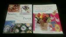 (2) PAPER CRAFTS BOOKS LOT! SIMPLY SUPER PAPER PAPER CREATIONS CARDS AND GIFTS