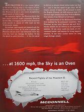 12/1961 PUB MCDONNELL DOUGLAS F-4 PHANTOM II FIGHTER RECORDS FLIGHT ORIGINAL AD