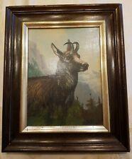 Johannes Kindorf Ölgemälde, Gamsbock Alpen,  München 1907-1994, gerahmt signiert