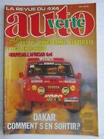 AUTO VERTE 4X4 N° 82 / DAKAR/405 turbo 16/RANGE CAMEL/BLAZER S10/AFRICAR 4X4