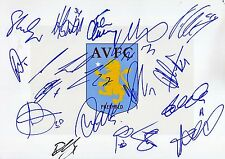 ASTON VILLA FC - Multi Signed 12x8 Photograph by 17 - FOOTBALL