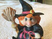 Vintage HTF Halloween Jacko Friends Witch trick treat bag JOL Music Box Schmid