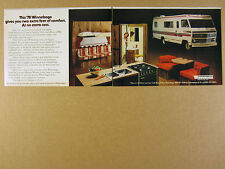 1978 Winnebago Brave 23RG Motor Home RV color photo vintage print Ad