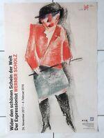 Werner Scholz Original Ausstellungsplakat Kunst