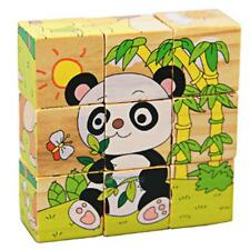 9PC Wooden Tangram 3D Jigsaw Puzzle Fruit Boards Educational Kids Baby Cube Toys