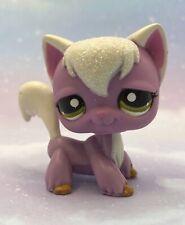 Littlest Pet Shop Authentic # 2271 Purple White Glitter Long Hair Angora Cat