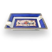 Cigar Ashtray Elie Bleu Blue Porcelain Flor de Alba Collection