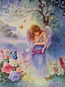 Christian Art Print Garden Whisper Angel Print by Tom duBois