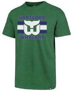 Hartford Whalers NHL '47 Vintage Green Tee T-Shirt Adult Men's X-Large XL