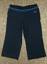 NIKE Medium Womens Knee tights Compression Pants Womens Workout Gym Black 8-10