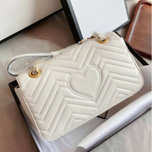 Marmont love Gucci brand leather bag with chain, Classic Ladies shoulder bag, GG