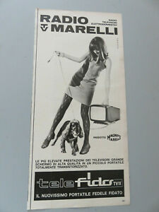 Advertising On Pag. Original Years 50/60 Advertising Vintage Radio Marelli