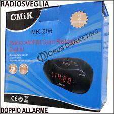 RADIO SVEGLIA RADIOSVEGLIA DIGITALE DOPPIO ALLARME RADIO AM FM