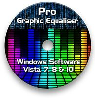 PRO GRAPHIC EQUALIZER EDITING SOFTWARE - WINDOWS VISTA, 7, 8 & 10 ON CD