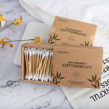 200pc/Box Eco Friendly Double Tip Bamboo Cotton Buds Ear Swab Makeup Buds Hot~~~