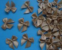 "-R0026D W Lots 50 Rose Dark blue Satin Ribbon Bows Appliques DIY-1-1//8/"""