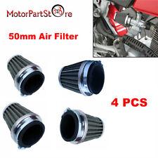 4X 48 50 52mm Air Filter Pod For Honda Kawasaki Suzuki Yamaha cb cl 350 450