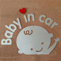 """Baby In Car"" Waving Baby on Board Safety Sign Cute Car Decal / Vinyl Sticker"