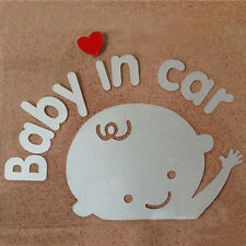 """""""Baby In Car"""" Waving Baby on Board Safety Sign Cute Car Decal / Vinyl Sticker"""