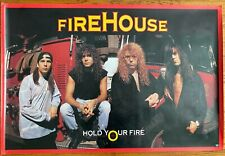 Firehouse - Vintage Hold Your Fire Promo Poster - Rare 1992 - Original Band