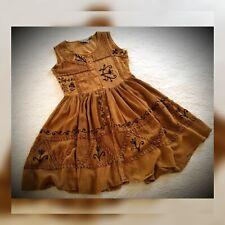 Boho Dress India Sleeveless Sun Button Down Jumper festival cute MPH Small