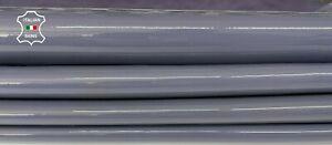 MAUVE LAVENDER PATENT calfskin calf leather 2 skins total 5sqf 1.1mm #A8223