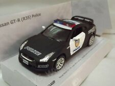 "Nissan GT-R R35 Police Car Die Cast Metal Model 5"" Collectable New"