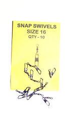 Snap Swivels Size 16  Pack 10 - Carp, Catfish, Pike, Sea Fishing etc