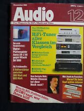 AUDIO 12/82,SABA MT 450,JVC TX 55,BRAUN T2,UHER MIX 700 STEREO,REDSON MX 1202