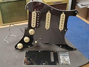 2020 Fender Player Stratocaster Black LOADED PICKGUARD HSS for Humbucker Strat