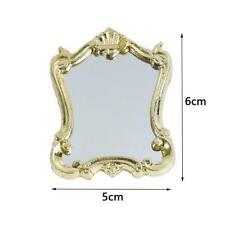 1:12 Miniature Dollhouse Furniture European Frame Mirror Accessories Dollho I7B8
