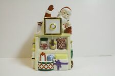 "Lenox ""Holliday Village "" Collection 10.5""  Santa Musical Cookie Jar  Mint"