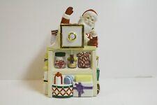 "Lenox ""Holliday Village "" Collection 10.5""  Santa Musical Cookie Jar  Mint"