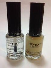REVLON Colorstay Longwear Nail Enamel ,Top Coat + Base coat , NEW